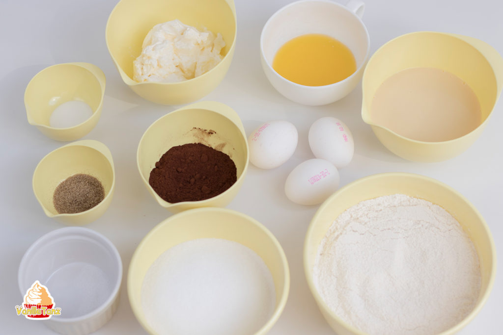 Zutaten Schokoladenböden