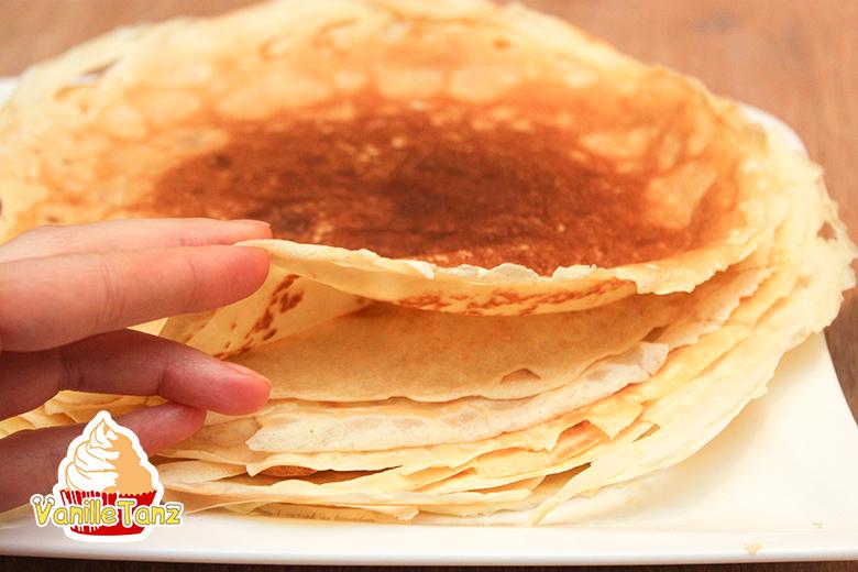 sehr schöne Pfannkuchen Crêpes