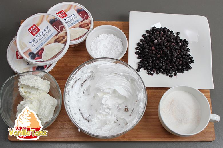 Zutaten für Heidelbeercreme
