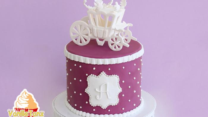 Prinzessin Torte In Lila Und Weiss Vanilletanz