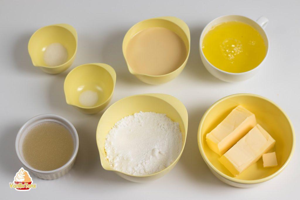 Zutaten für Vogelmilch Torte