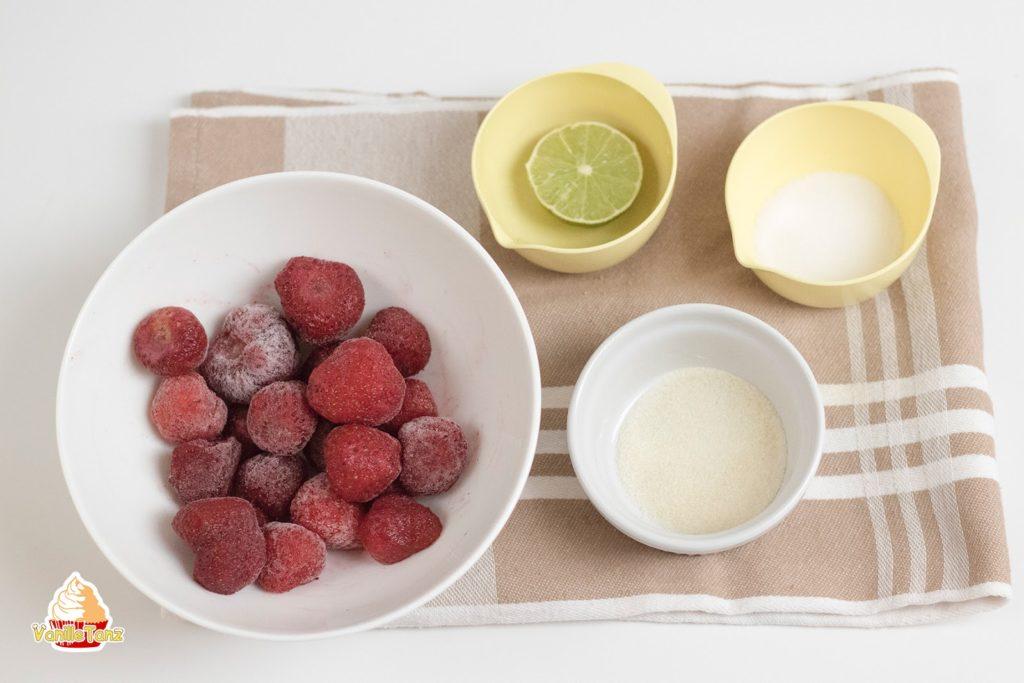 Erdbeerkonfit als fruchtspiegel f r torten vanilletanz - Dekoration fur torten ...