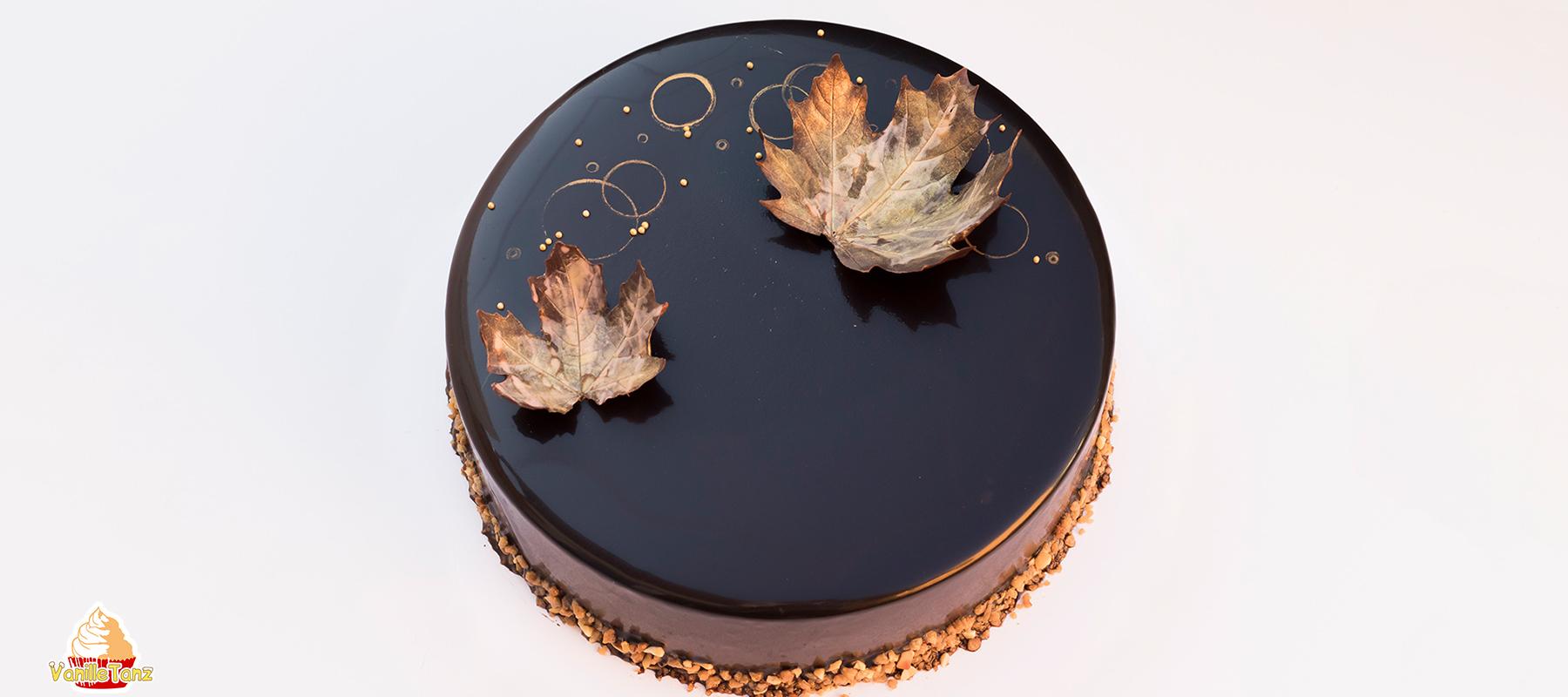Mirror-Glaze mit Kakao und ohne Glukosesirup