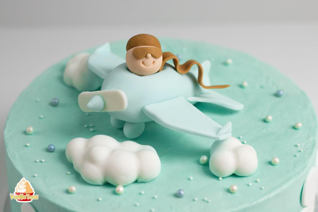 Fondant Figur Flugzeug Fur Torte Zum Kindergeburtstag Vanilletanz