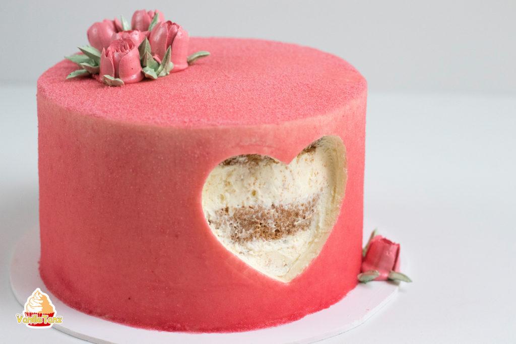 Ausgefallene Torte Zum Valentinstag Oder Muttertag Vanilletanz