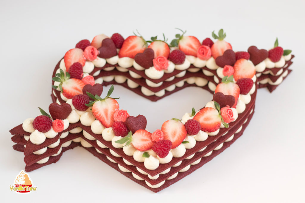 Trend Cake 2018 Cream Tarte Number Cake Valentinstag Edition