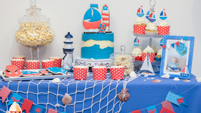 Maritime Candy Bar rot blau