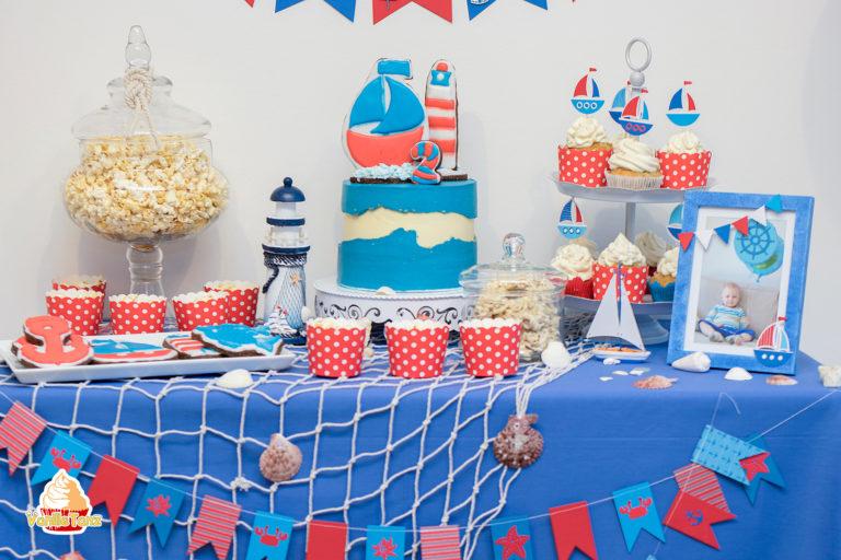 Maritime Candy Bar rot blau