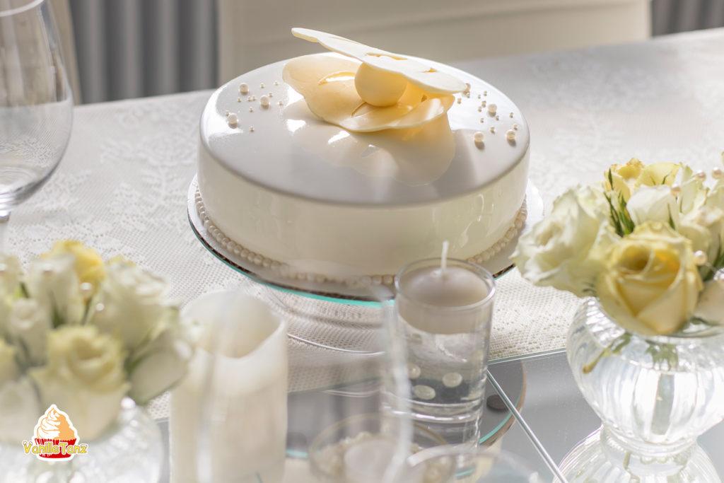 Torte Perlenhochzeit mit Muschel